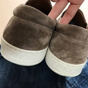 Vince Shoes - Vince Ace Perforated Suede Slip On Sneakers